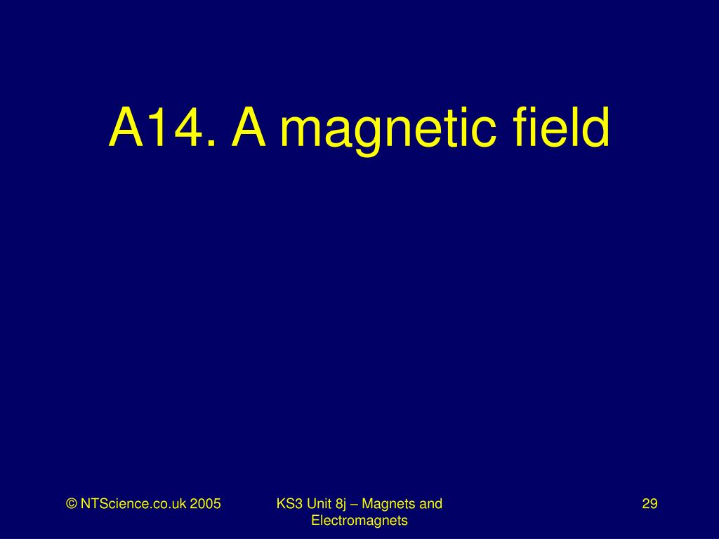 A14. A magnetic field