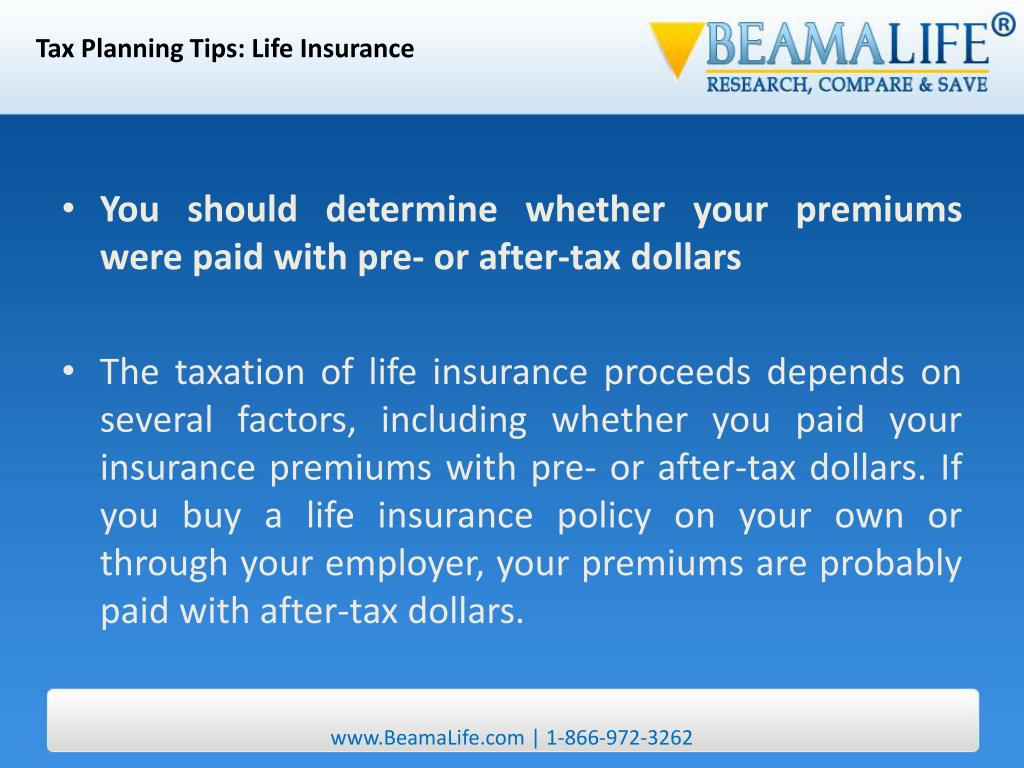 Tax Planning Tips: Life Insurance