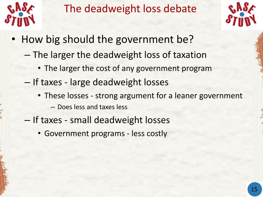 The deadweight loss debate