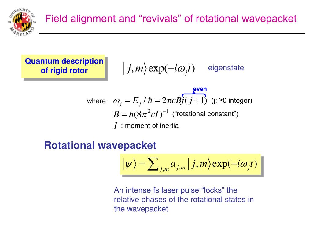 Quantum description of rigid rotor
