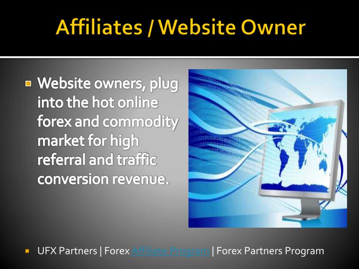 Affiliates website owner