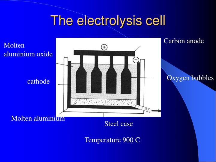 The electrolysis cell