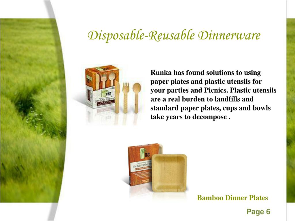 Disposable-Reusable Dinnerware