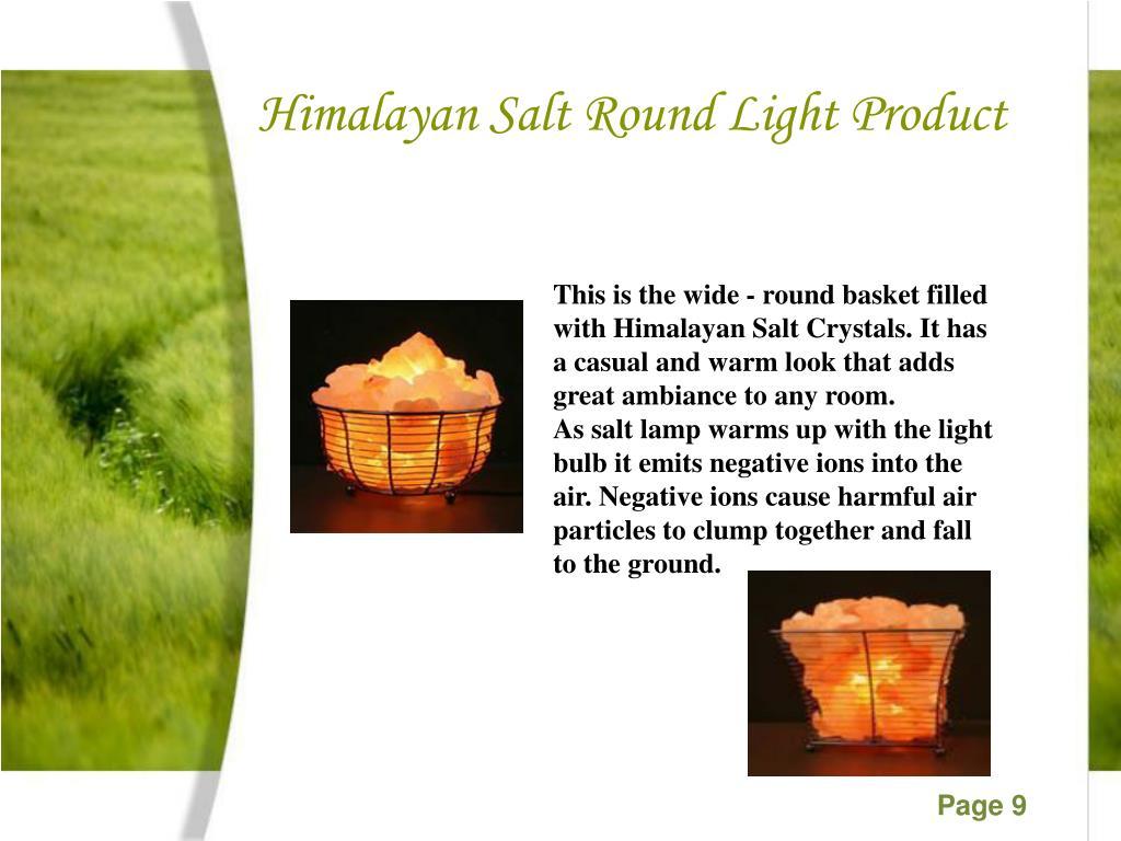 Himalayan Salt Round Light Product