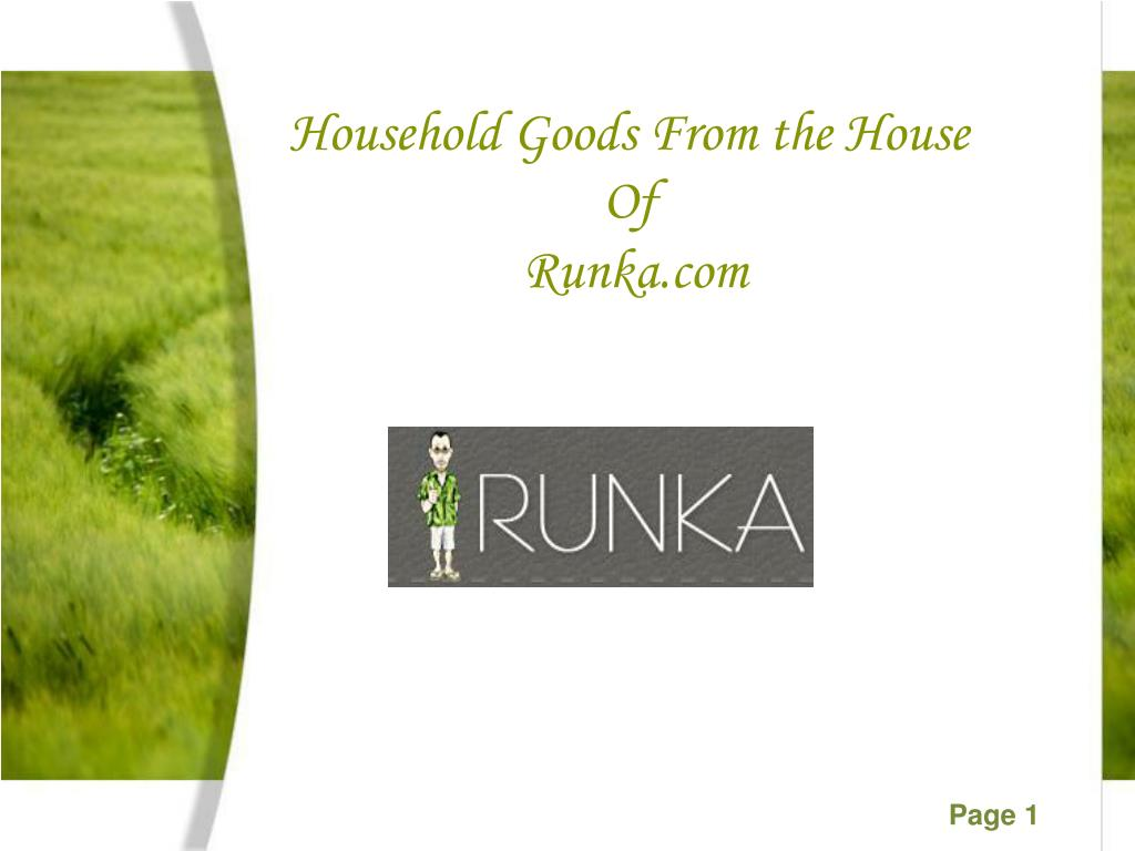 Household Goods From the House Of