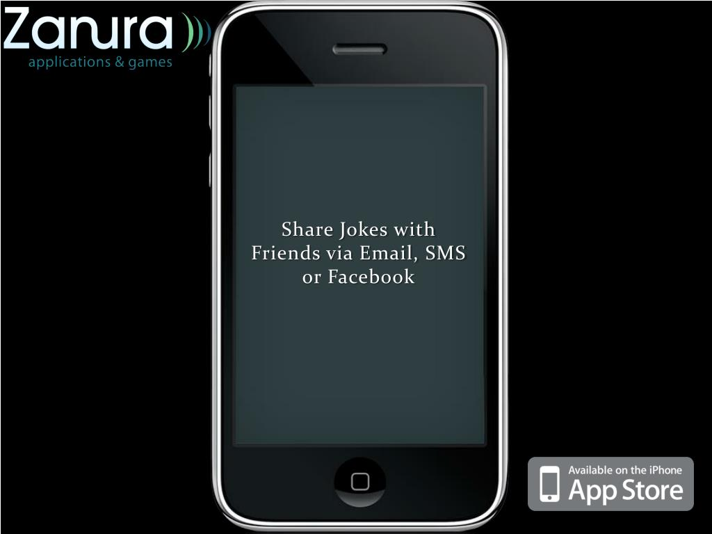 Share Jokes with Friends via Email, SMS or Facebook