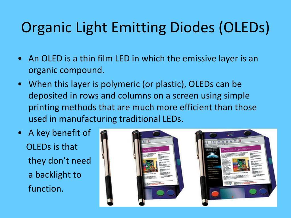 Organic Light Emitting Diodes (OLEDs)