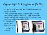 organic light emitting diodes oleds