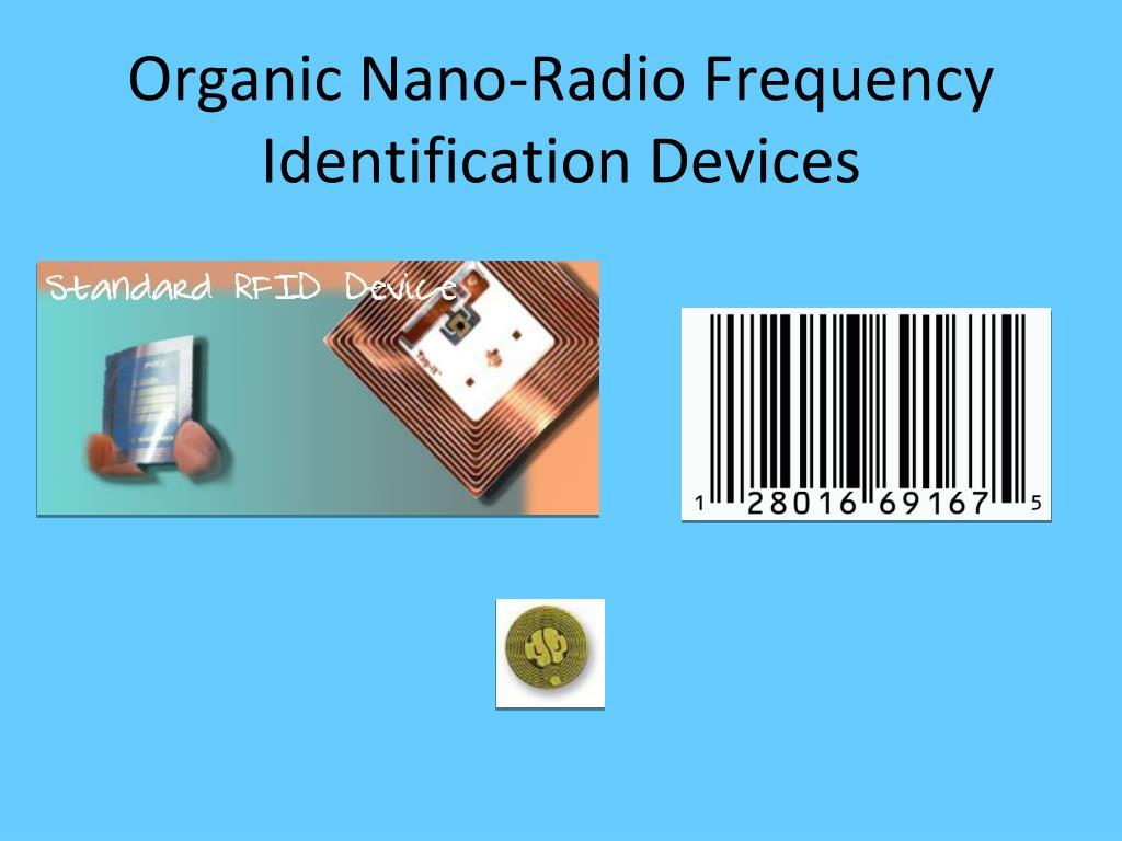 Organic Nano-Radio Frequency Identification Devices