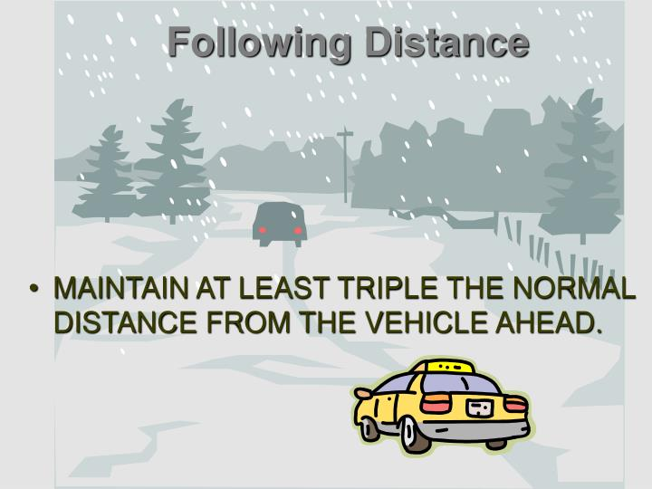 Following Distance