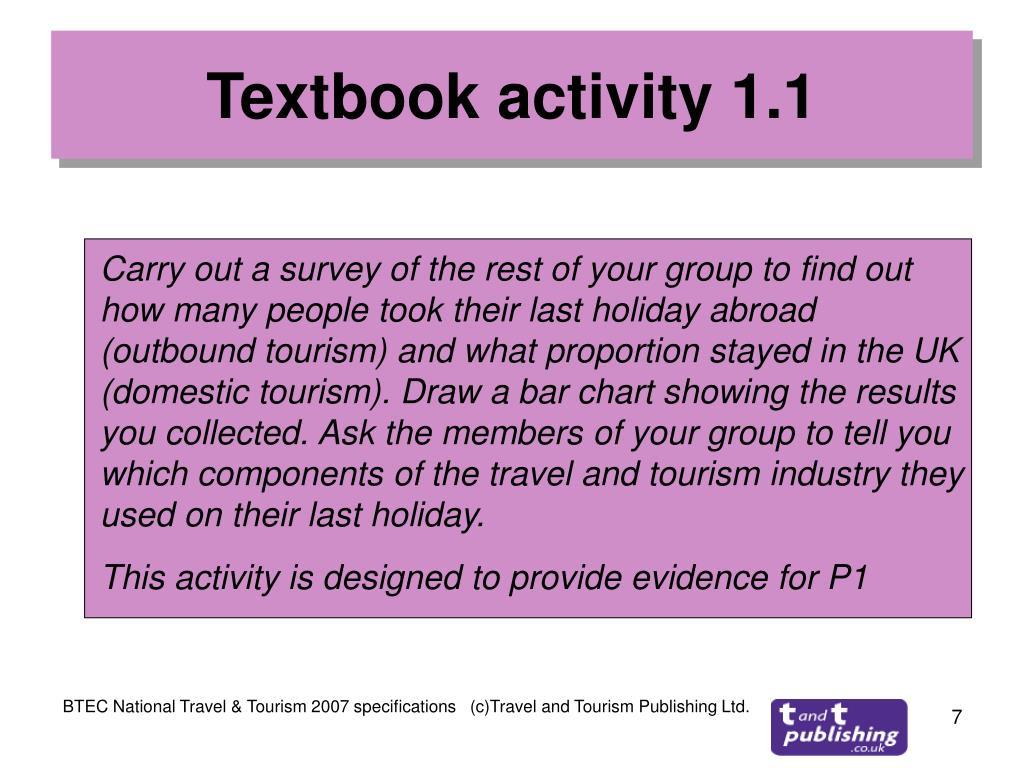 Textbook activity 1.1