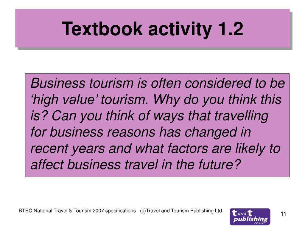 Textbook activity 1.2