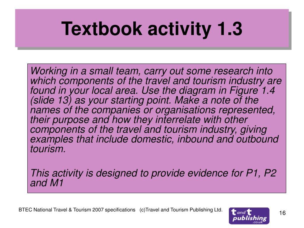 Textbook activity 1.3