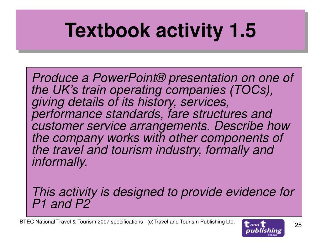 Textbook activity 1.5