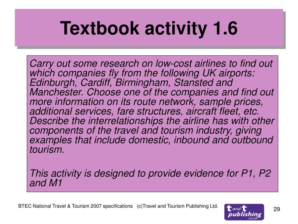 Textbook activity 1.6