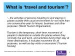 what is travel and tourism
