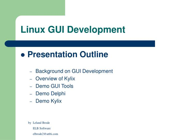 Linux gui development