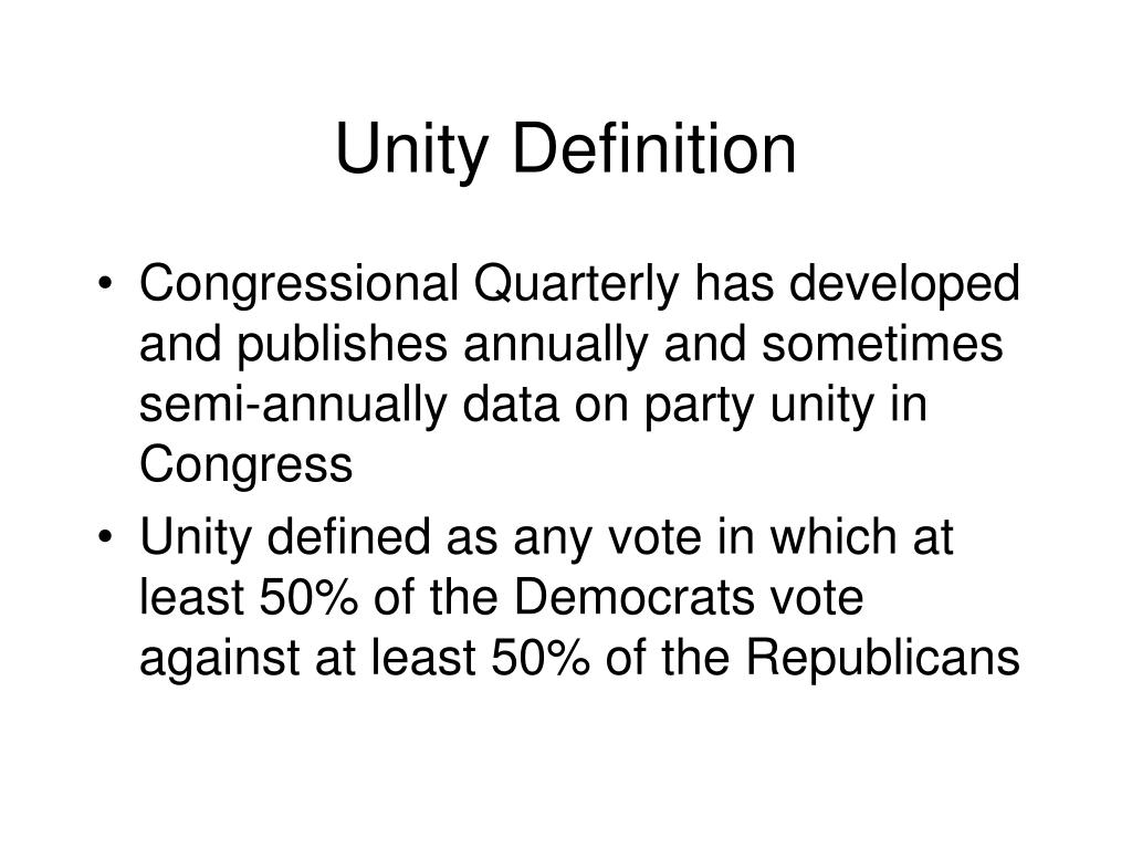 Unity Definition