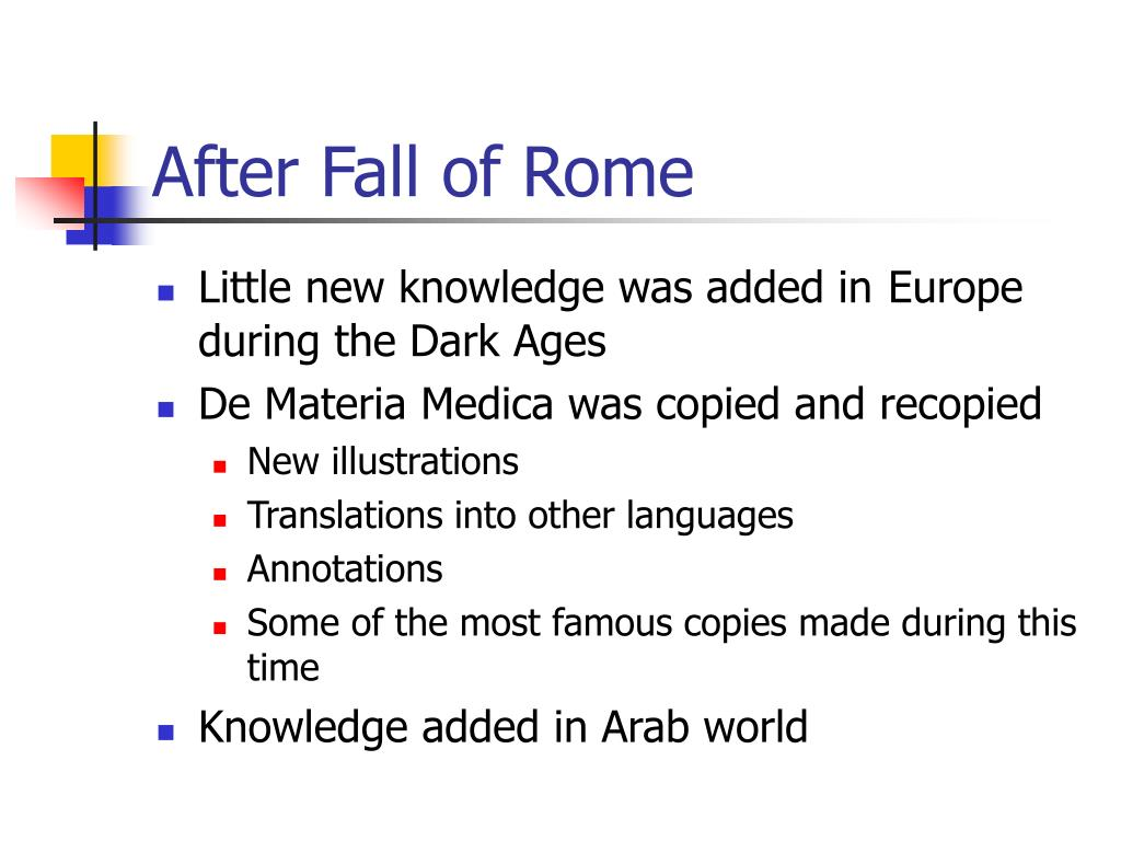 After Fall of Rome