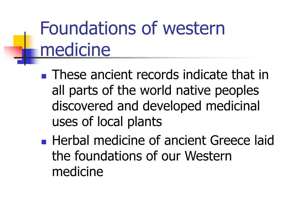 Foundations of western medicine