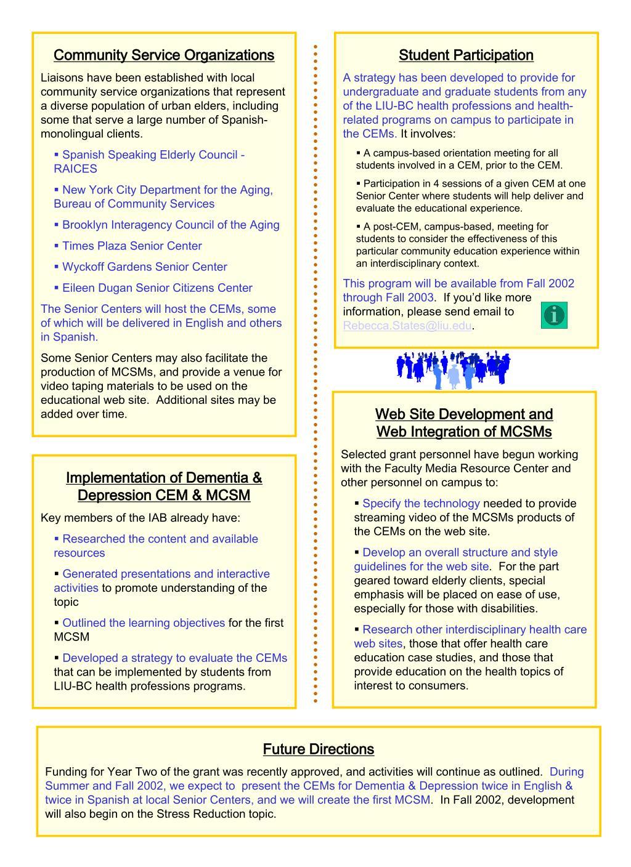 Community Service Organizations