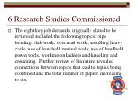6 research studies commissioned