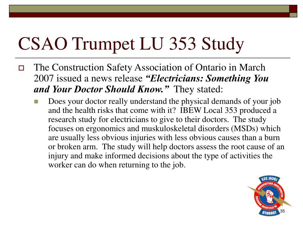 CSAO Trumpet LU 353 Study