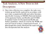 task analysis a new twist to job descriptions