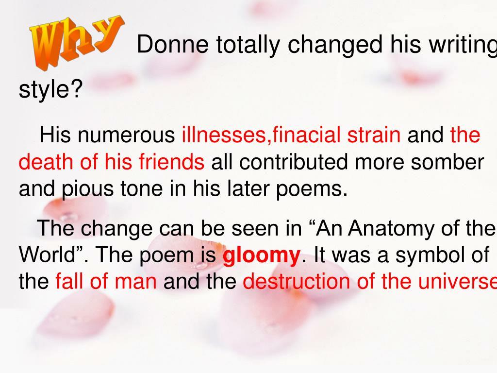 John Donne Anatomy Of The World