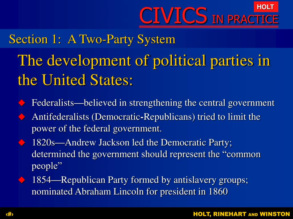 Differences between federalists and democratic republicans