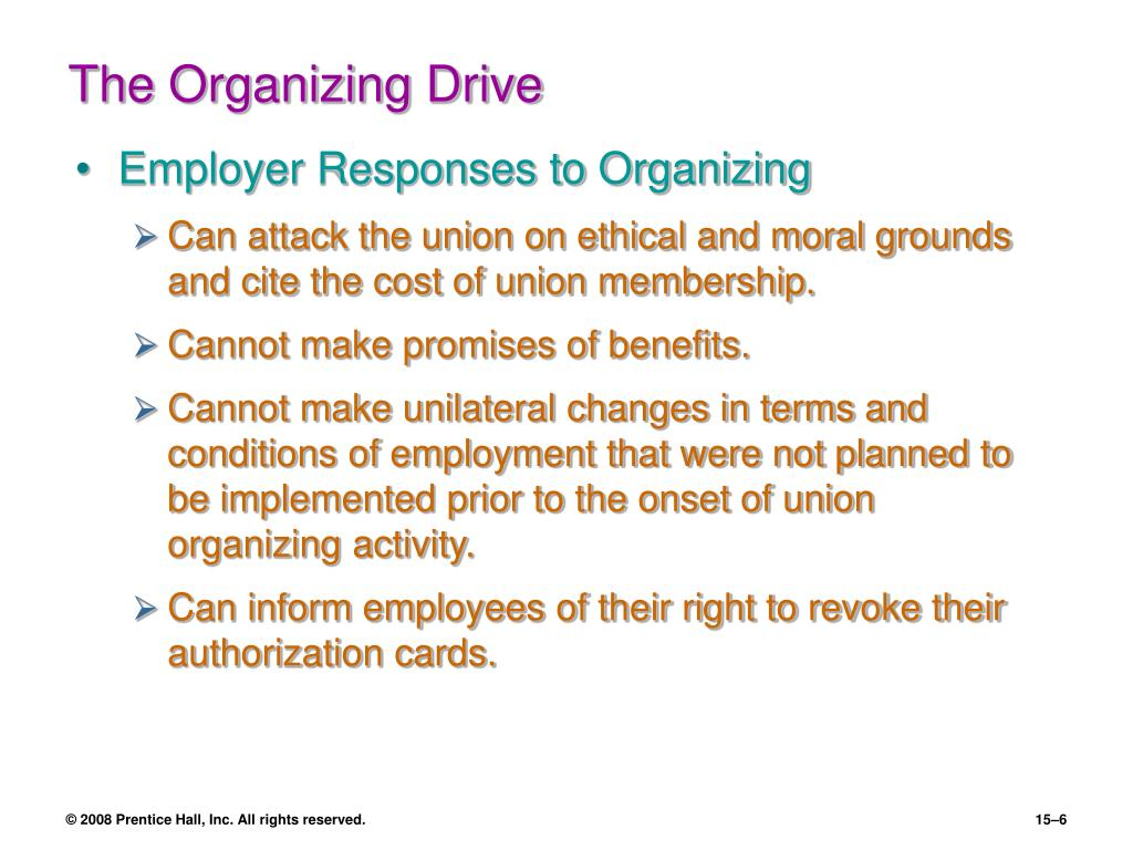 The Organizing Drive