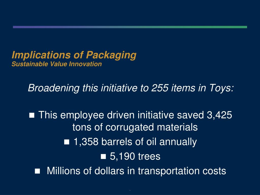 Implications of Packaging