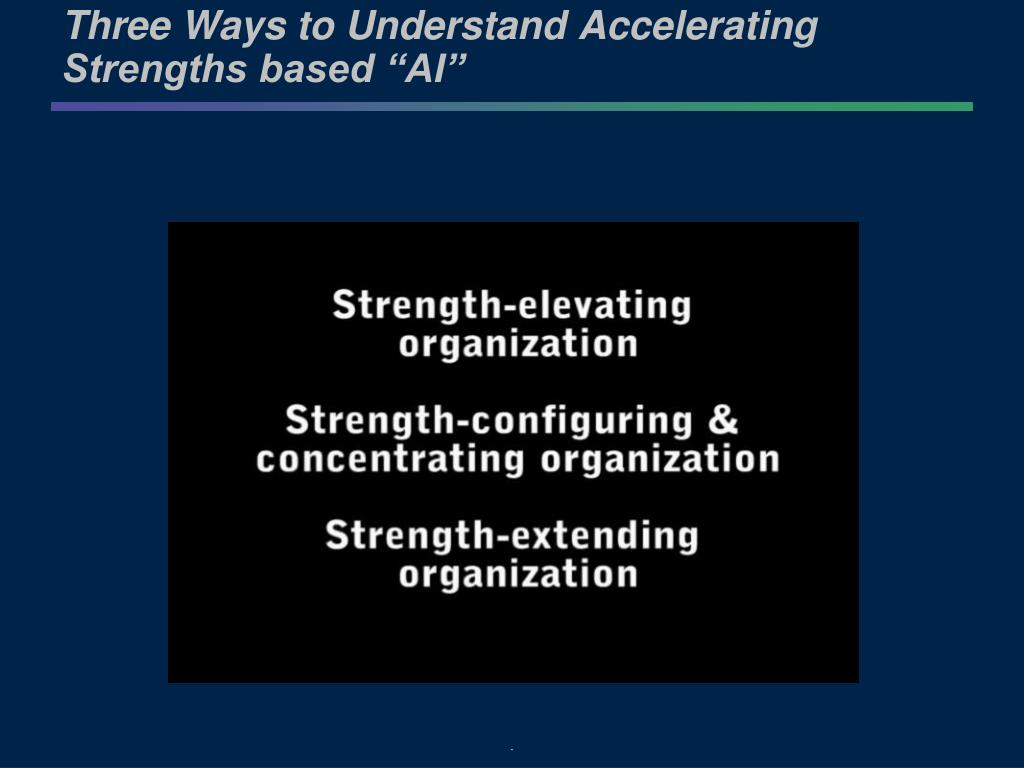 "Three Ways to Understand Accelerating Strengths based ""AI"""