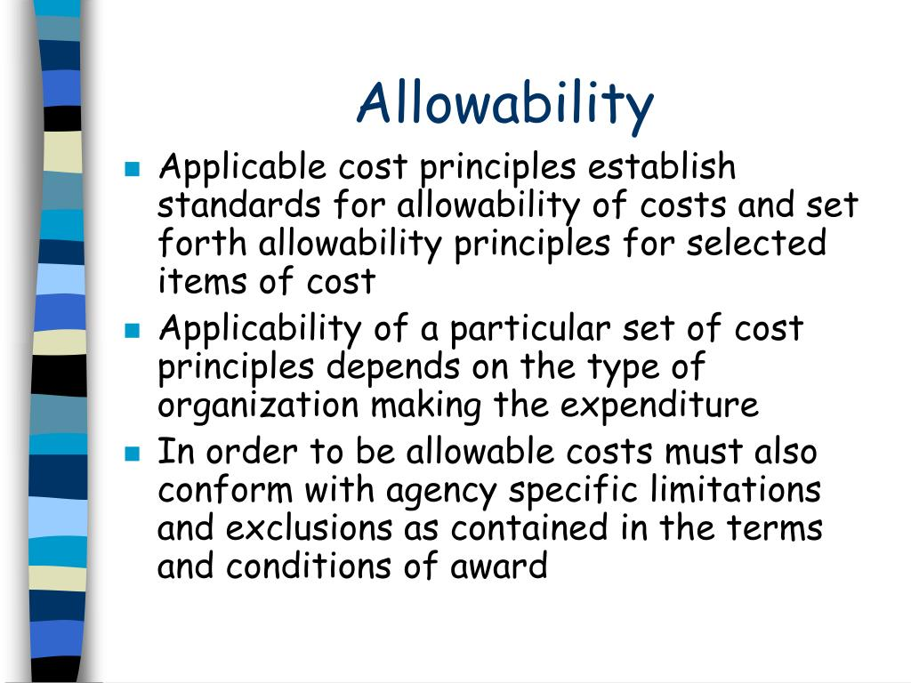 Allowability
