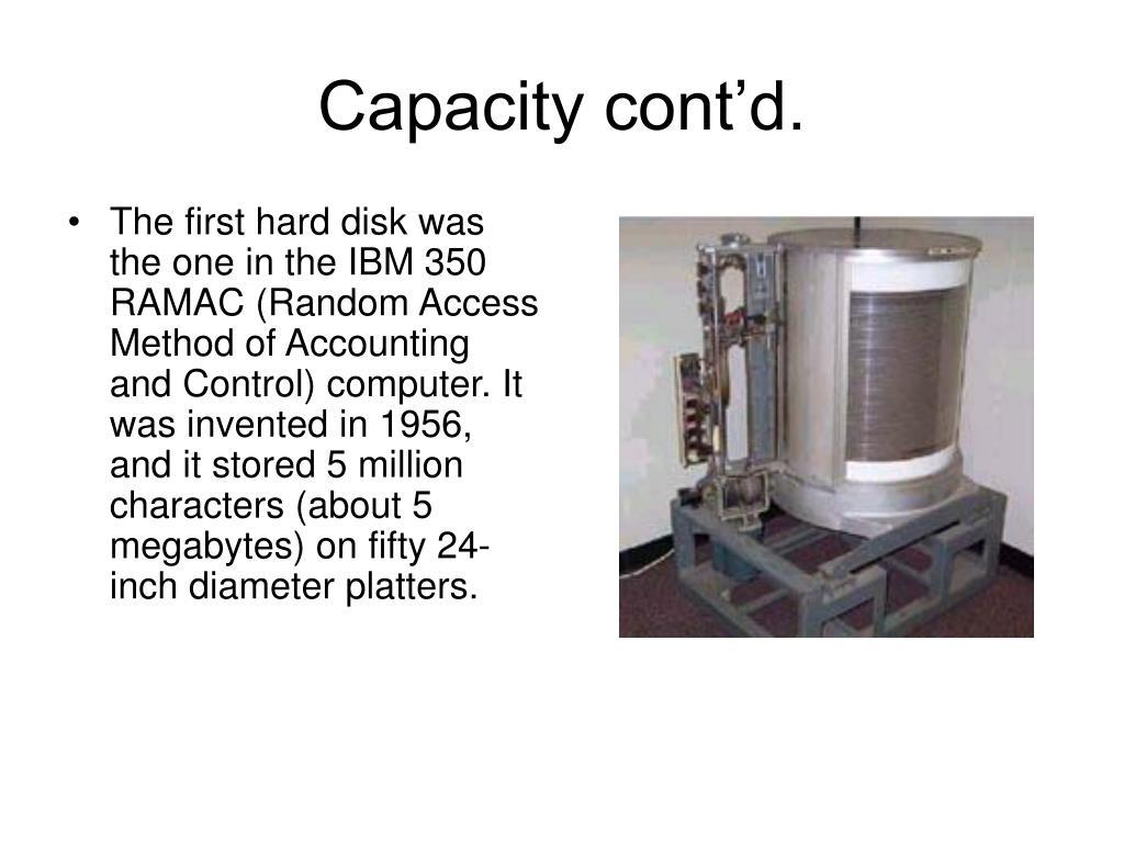 Capacity cont'd.