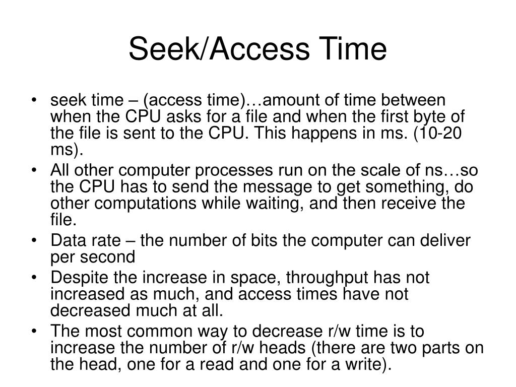Seek/Access Time