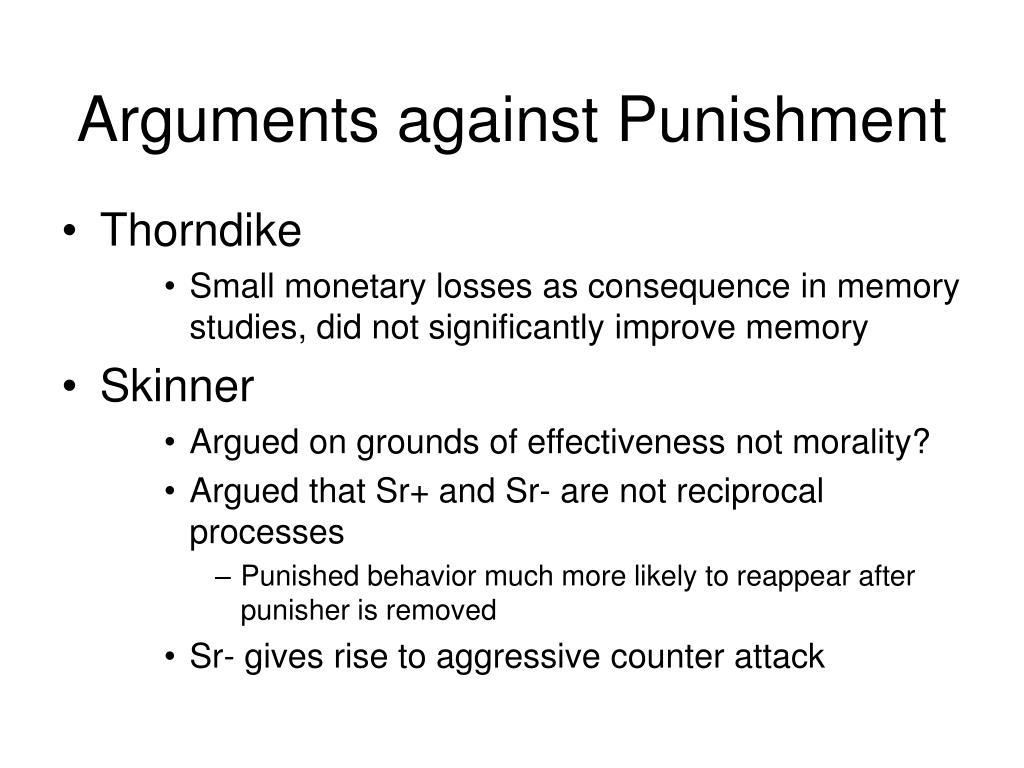 Arguments against Punishment