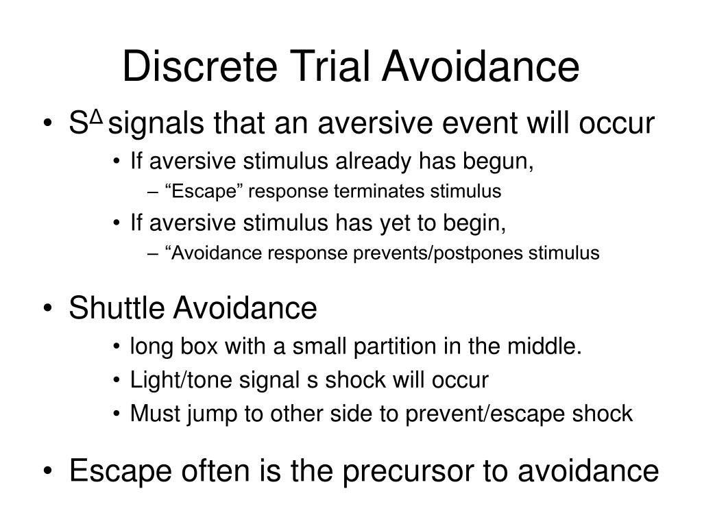 Discrete Trial Avoidance