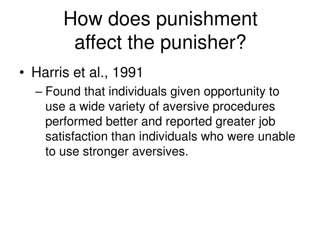 How does punishment