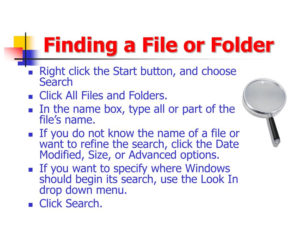 Finding a File or Folder