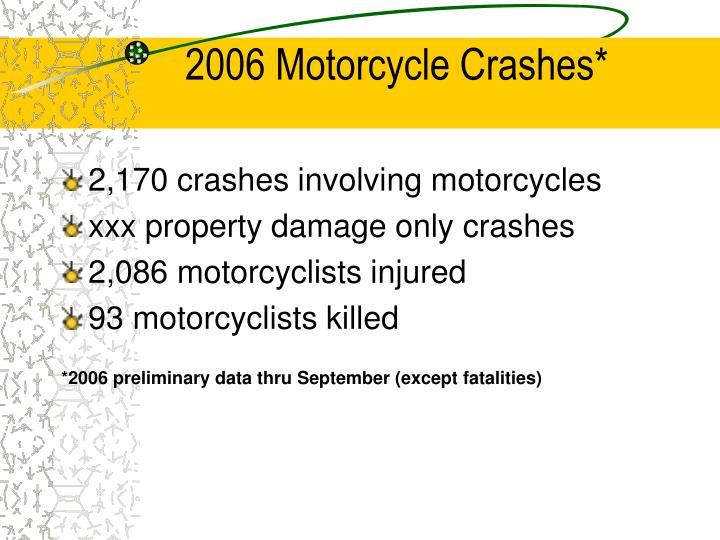 2006 Motorcycle Crashes*