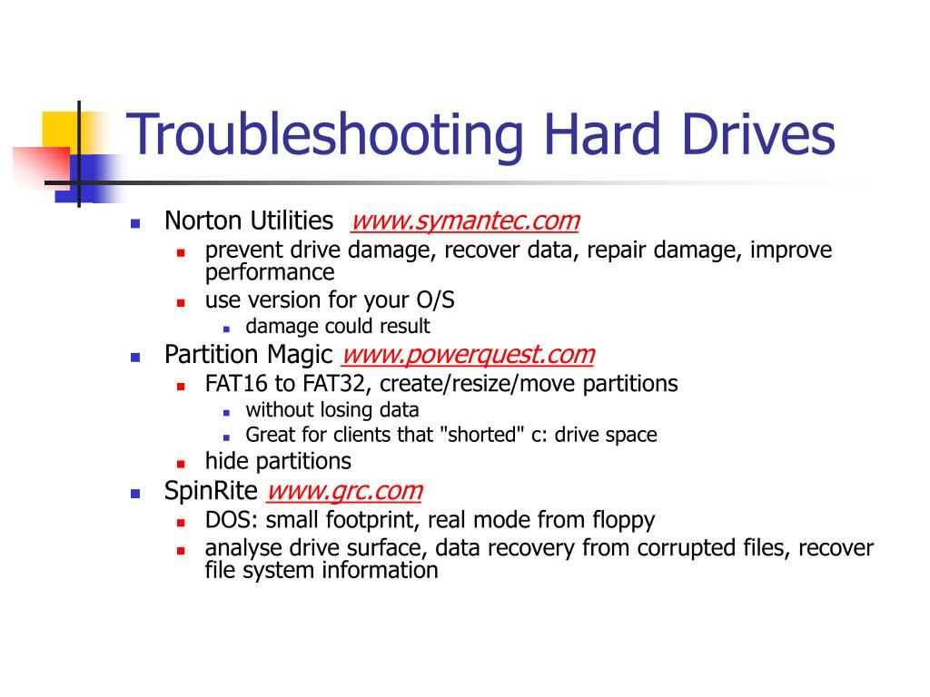 Troubleshooting Hard Drives