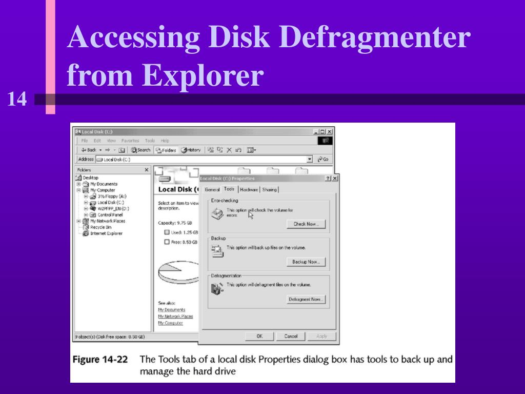 Accessing Disk Defragmenter from Explorer