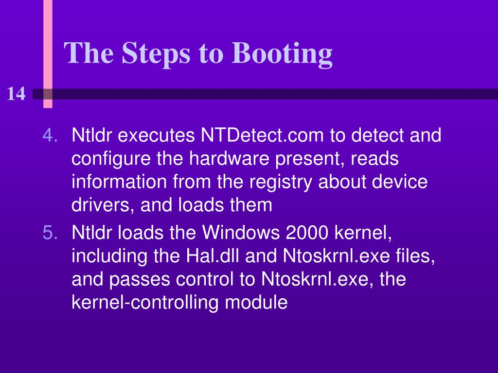 The Steps to Booting