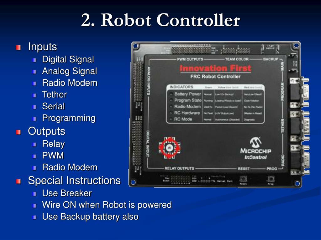 2. Robot Controller