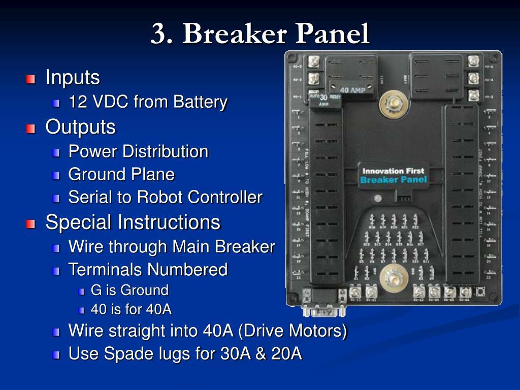 3. Breaker Panel