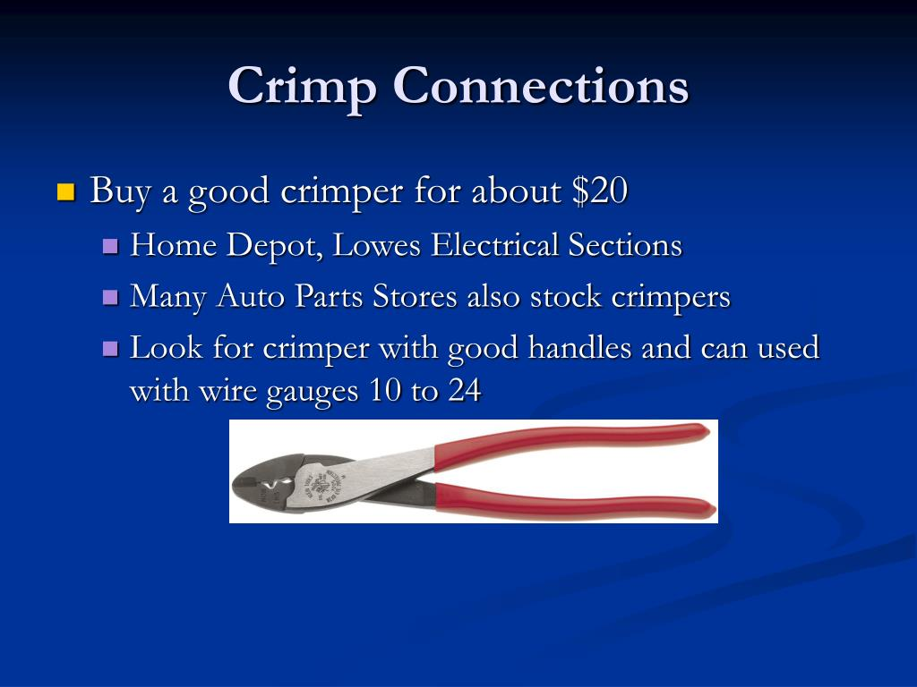 Crimp Connections
