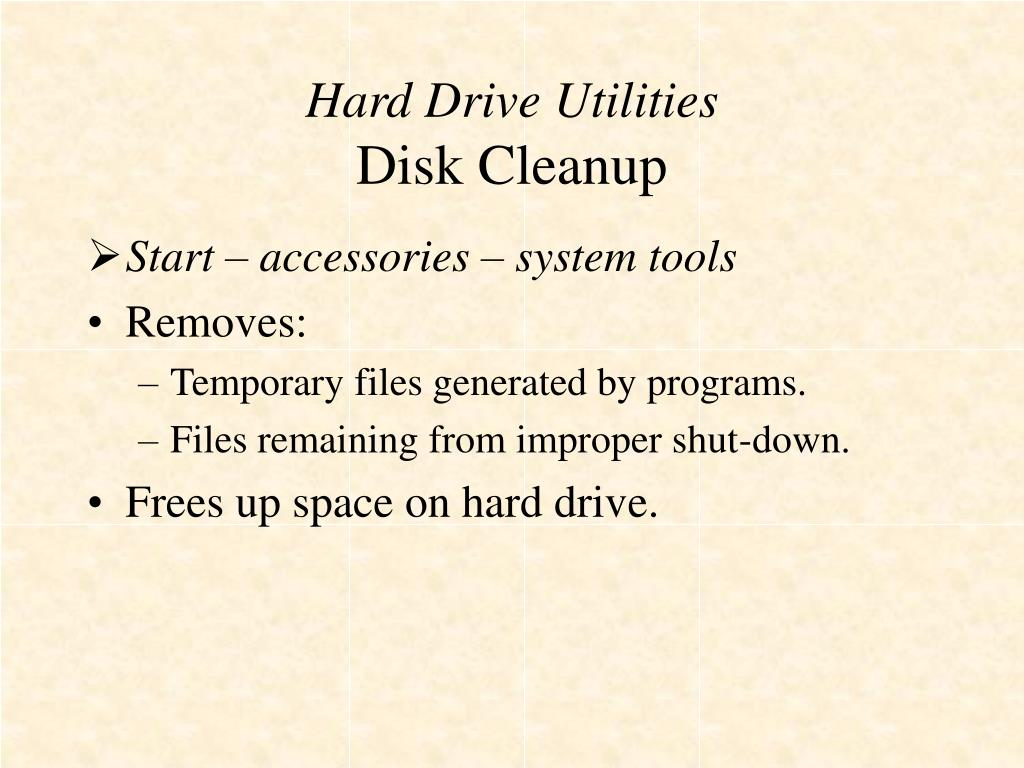 Hard Drive Utilities