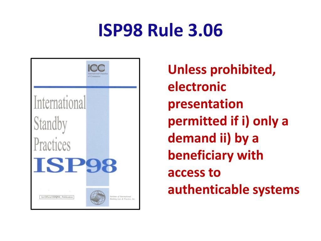 ISP98 Rule 3.06