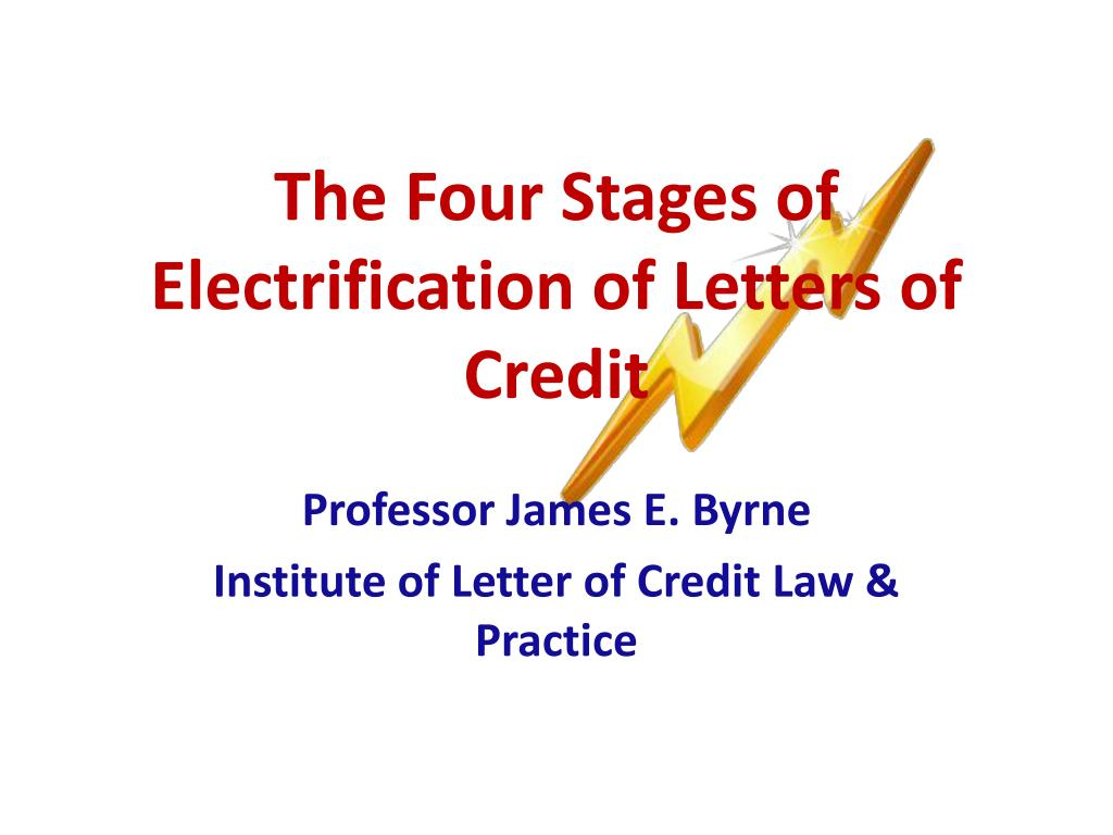 The Four Stages of Electrification of Letters of Credit